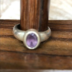 Jewelry - Sterling silver amethyst ring size 5